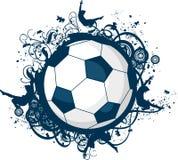 Icona di calcio di Grunge Fotografie Stock