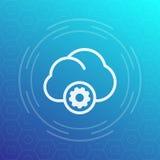 Icona di calcolo della nube Fotografie Stock Libere da Diritti
