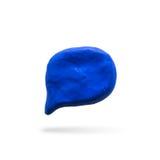 Icona di Callout, modellante argilla Fotografia Stock