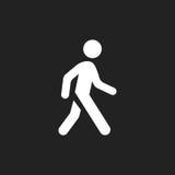 Icona di camminata di vettore dell'uomo Illustrazione del segno della passeggiata della gente illustrazione di stock