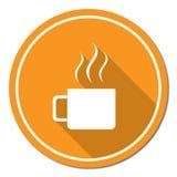Icona di campeggio di vettore della tazza Fotografia Stock Libera da Diritti