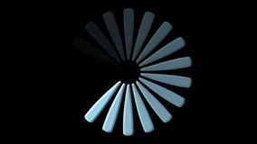 Icona di caricamento del computer sul nero video d archivio