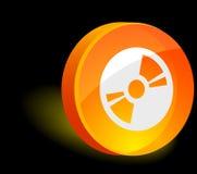 Icona di CD/DVD. Fotografie Stock Libere da Diritti