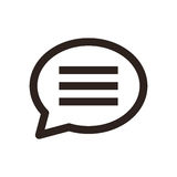 Icona di chiacchierata illustrazione di stock