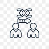 Icona di clonazione di vettore isolata su fondo trasparente, C lineare royalty illustrazione gratis