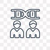 Icona di clonazione di vettore isolata su fondo trasparente, C lineare illustrazione di stock