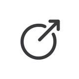 Icona di collegamento esterno - il nero illustrazione di stock