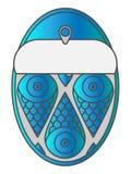 Icona di colore degli spratti Pesci inscatolati Illustrazione di vettore con la pendenza d'avanguardia blu immagini stock