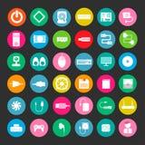 Icona di colore del computer Immagine Stock