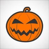 Icona di colore della zucca di Halloween Fotografia Stock