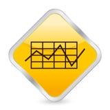 Icona di colore giallo dello schema di affari Fotografia Stock