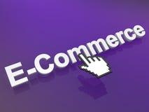 Icona di commercio elettronico Fotografia Stock