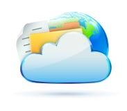 Icona di concetto della nube Immagini Stock
