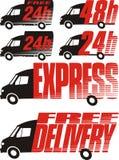Icona di consegna - trasporto Immagini Stock