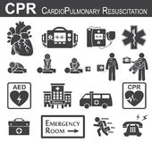 Icona di CPR (rianimazione cardiopolmonare) Fotografia Stock