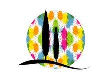 Icona di Cypress Illustrazione semplice dell'icona di vettore del cipresso per il web Alberi variopinti della siluetta italiana i illustrazione vettoriale