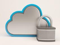 icona di 3D Cloud Drive Fotografie Stock