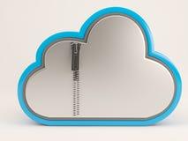 icona di 3D Cloud Drive Illustrazione Vettoriale
