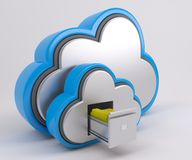 icona di 3D Cloud Drive Immagini Stock