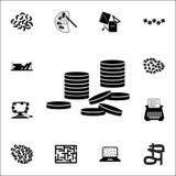 Icona di disordine dei soldi insieme universale delle icone di caos per il web ed il cellulare illustrazione di stock