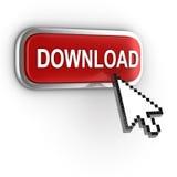 Icona di download 3d Immagine Stock