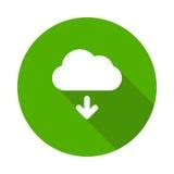 icona di download della nuvola Immagine Stock Libera da Diritti