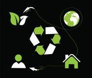 Icona di Eco Fotografie Stock