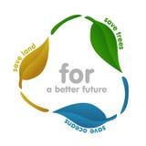 Icona di ecologia - riciclando Fotografia Stock Libera da Diritti