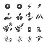 Icona di elettricità immagini stock libere da diritti