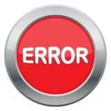 Icona di errore Fotografie Stock