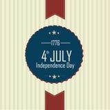 Icona di festa dell'indipendenza Fotografia Stock Libera da Diritti