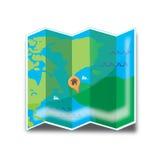 Icona di festa della mappa Fotografie Stock Libere da Diritti