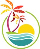 Icona di festa della spiaggia illustrazione di stock