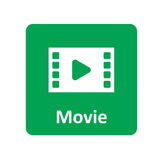 Icona di film per il web ed il cellulare Fotografia Stock