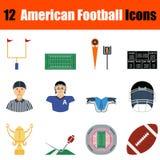 Icona di football americano Fotografie Stock