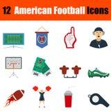 Icona di football americano Fotografia Stock