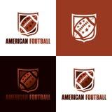 Icona di football americano e logo - illustrazione di vettore Illustrazione di Stock