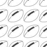 Icona di football americano isolata su fondo bianco Illustrazione di vettore linea stile Reticolo senza giunte della sfera royalty illustrazione gratis