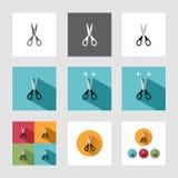 Icona di forbici Fotografia Stock