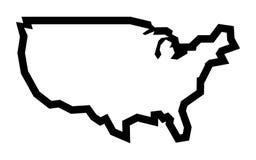 Icona di forma del paese dell'America Immagini Stock