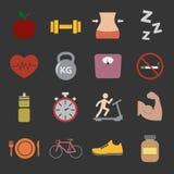 Icona di forma fisica e di salute illustrazione di stock