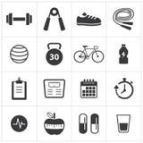 Icona di forma fisica e sana Immagini Stock