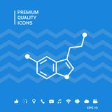 Icona di formula chimica serotonina illustrazione di stock