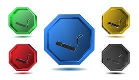 Icona di fumo, segno, illustrazione 3D Immagine Stock Libera da Diritti