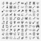 Icona di giardinaggio di scarabocchio Fotografia Stock