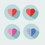 Icona di giorno del ` s del biglietto di S. Valentino del cuore Fotografie Stock