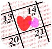 Icona di giorno di biglietti di S. Valentino Immagini Stock