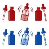 Icona di gocce nasali di vettore Fotografia Stock Libera da Diritti