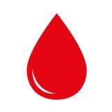 Icona di goccia del sangue Fotografia Stock Libera da Diritti