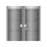 Icona di Grey Door Disegno domestico Grafico di vettore Fotografie Stock
